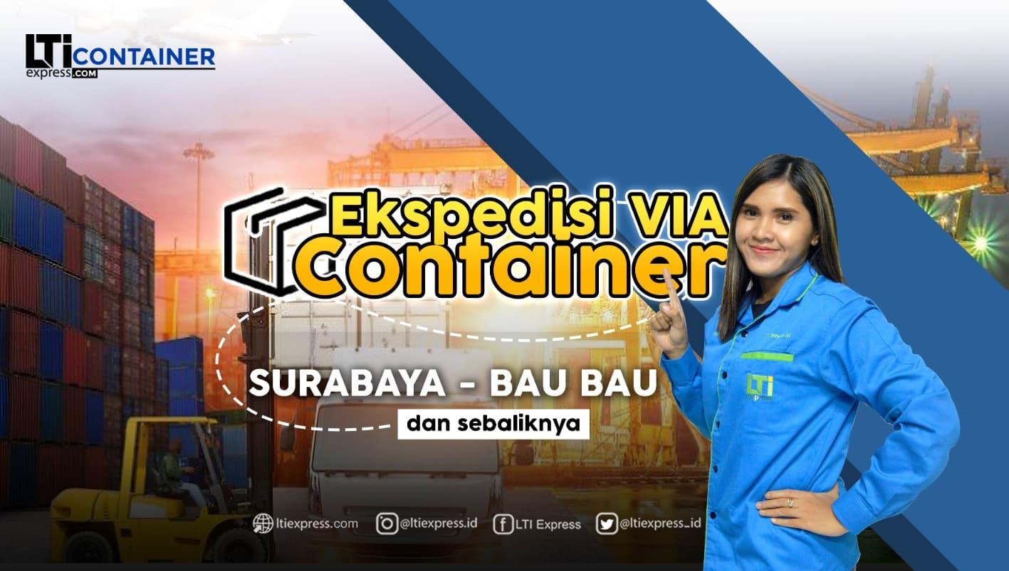ekspedisi container surabaya baubau