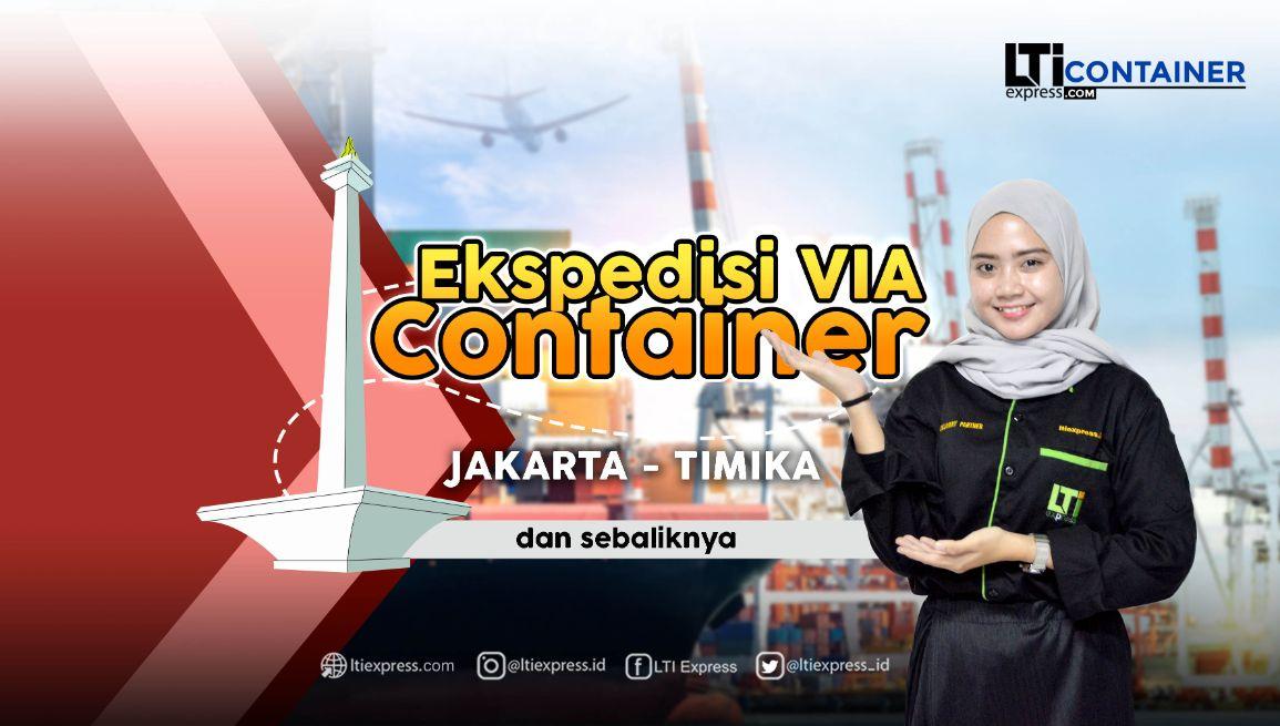 ekspedisi container jakarta timika