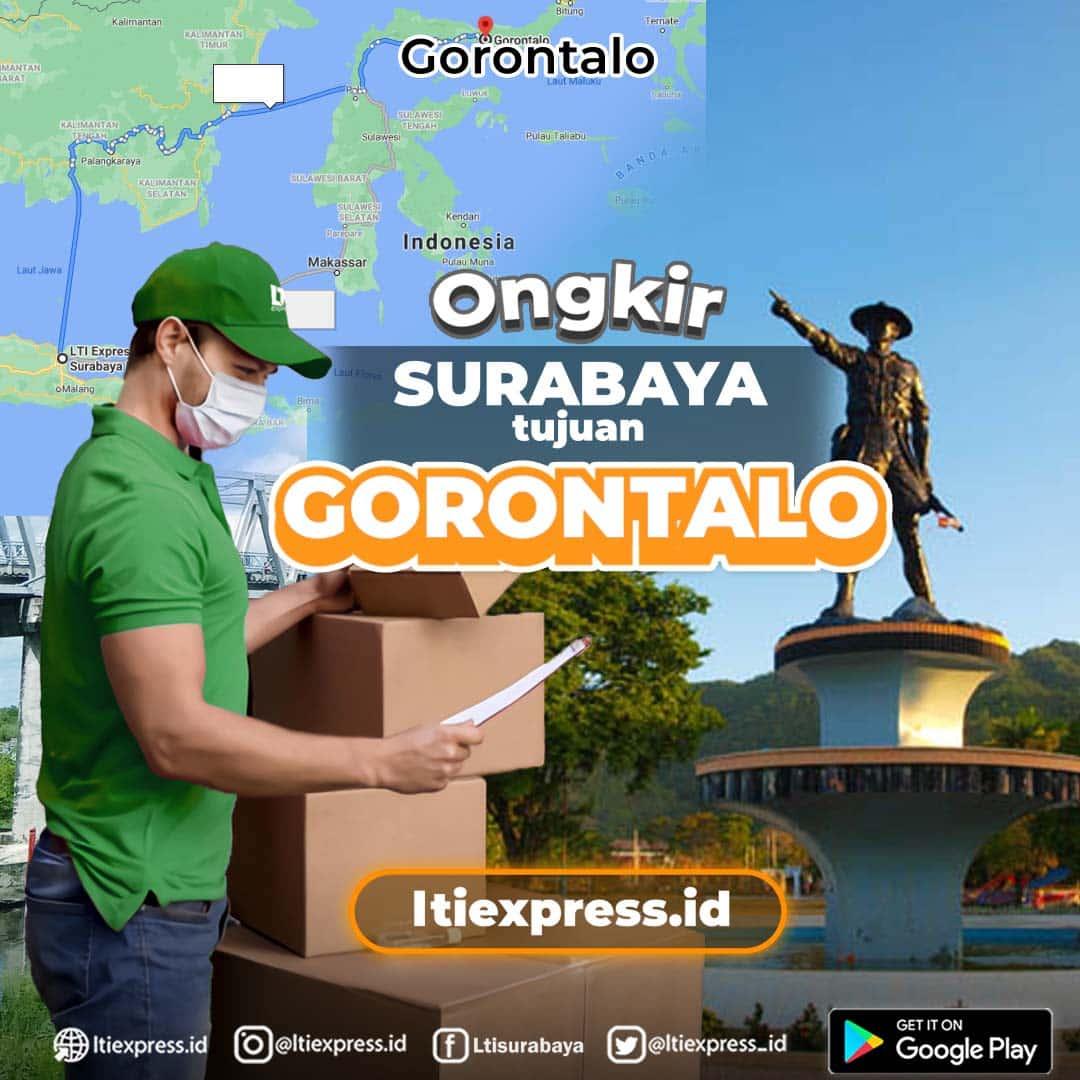 ongkir surabaya ke provinsi gorontalo