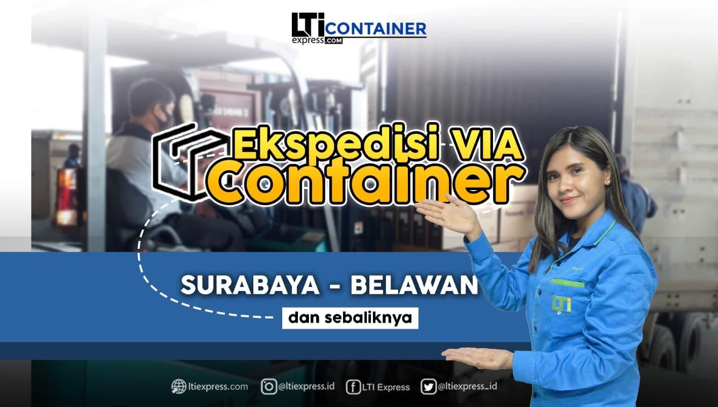 ekspedisi container surabaya belawan medan