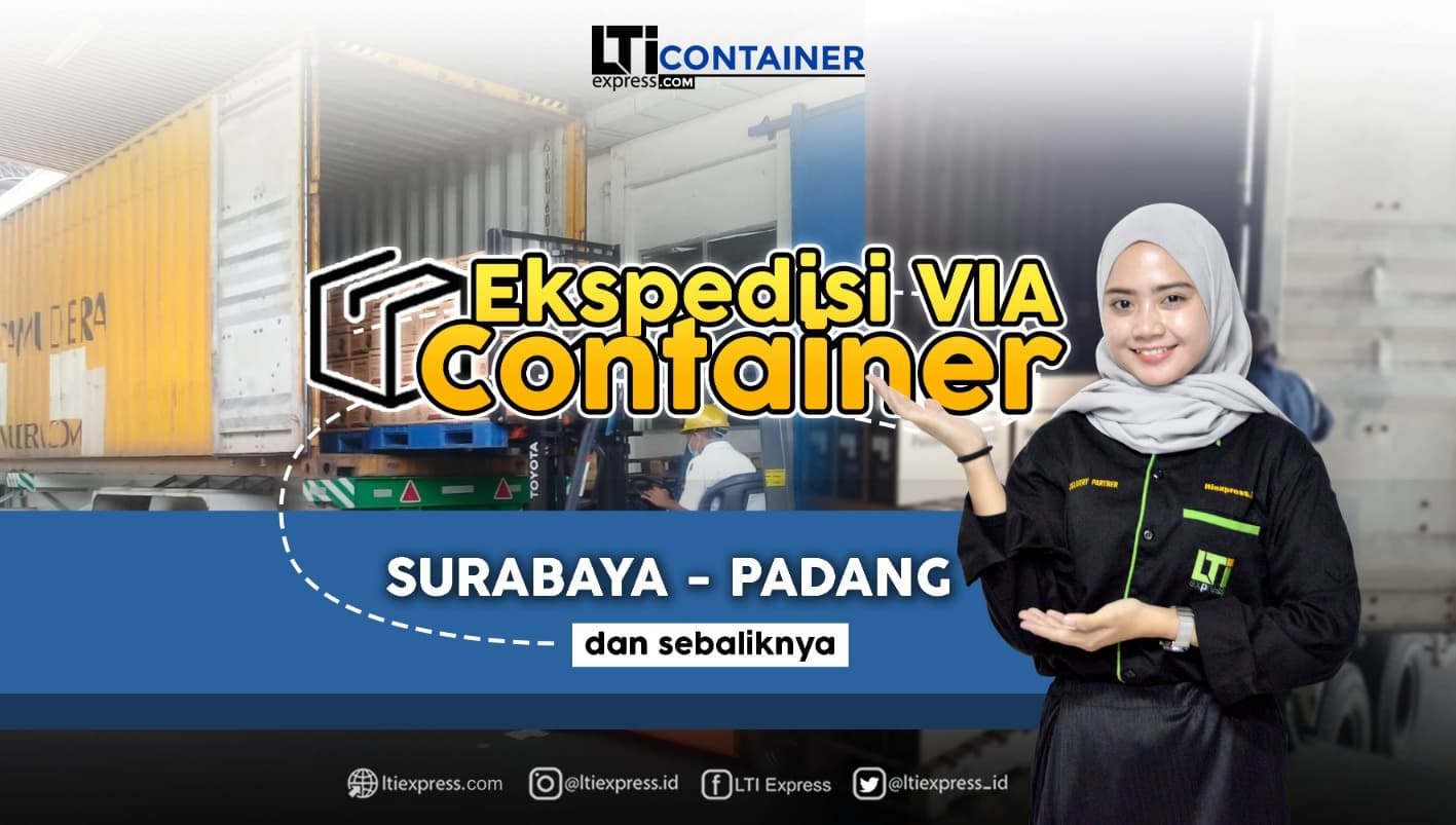 ekspedisi container surabaya padang