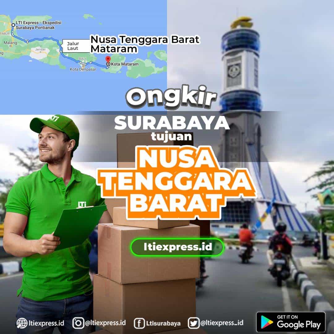 Ongkir Surabaya ke Nusa Tenggara Barat
