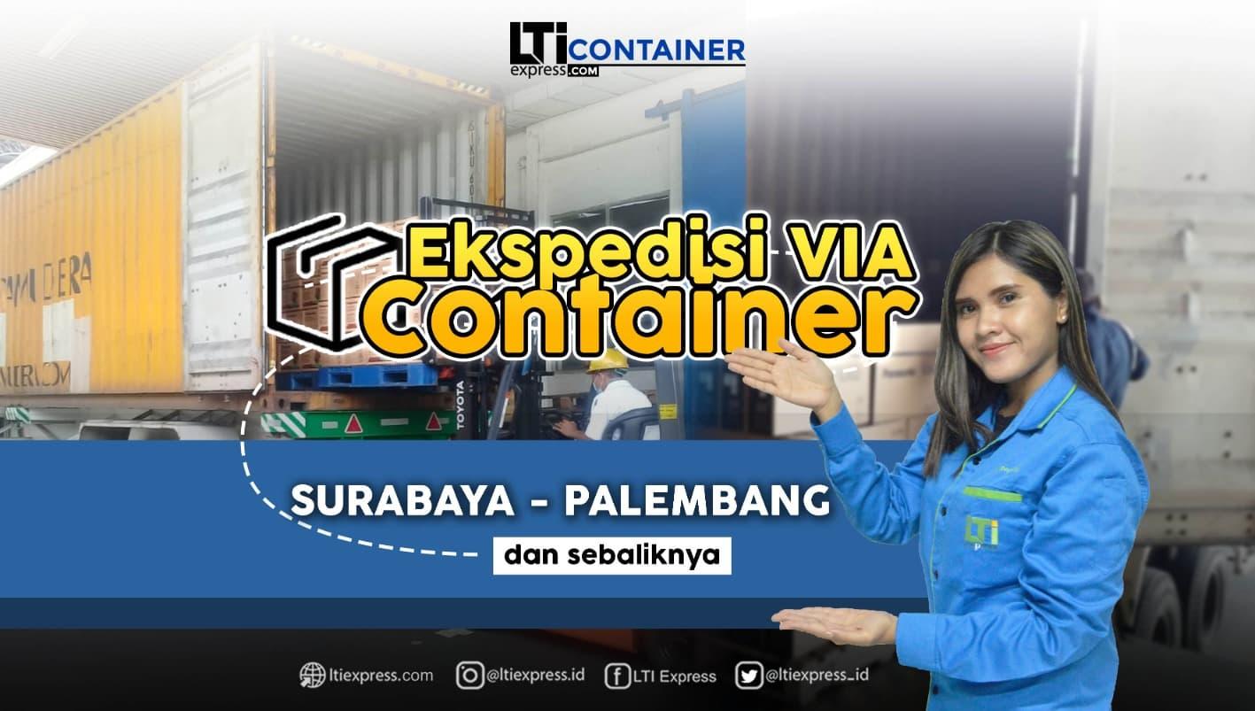 ekspedisi container surabaya palembang