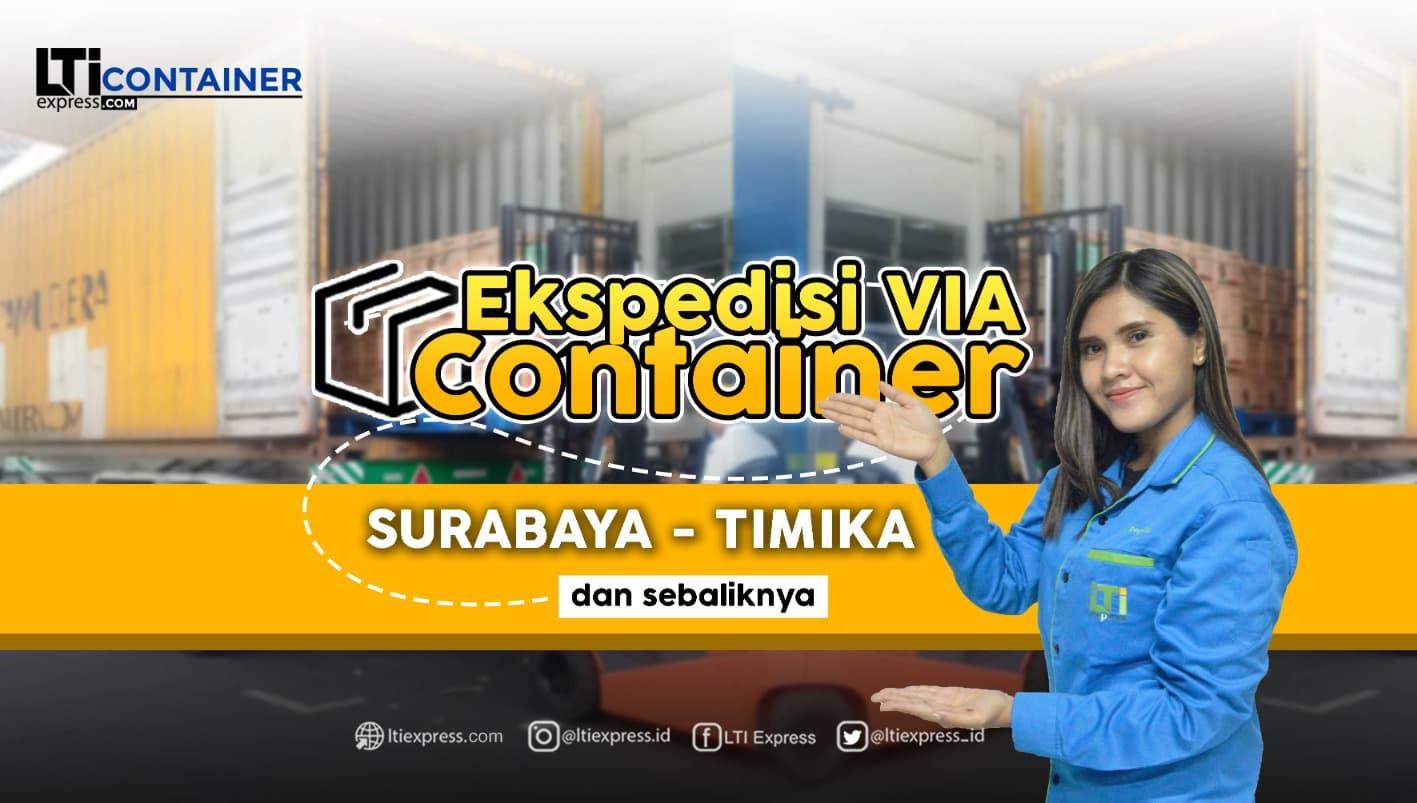 ekspedisi container surabaya timika