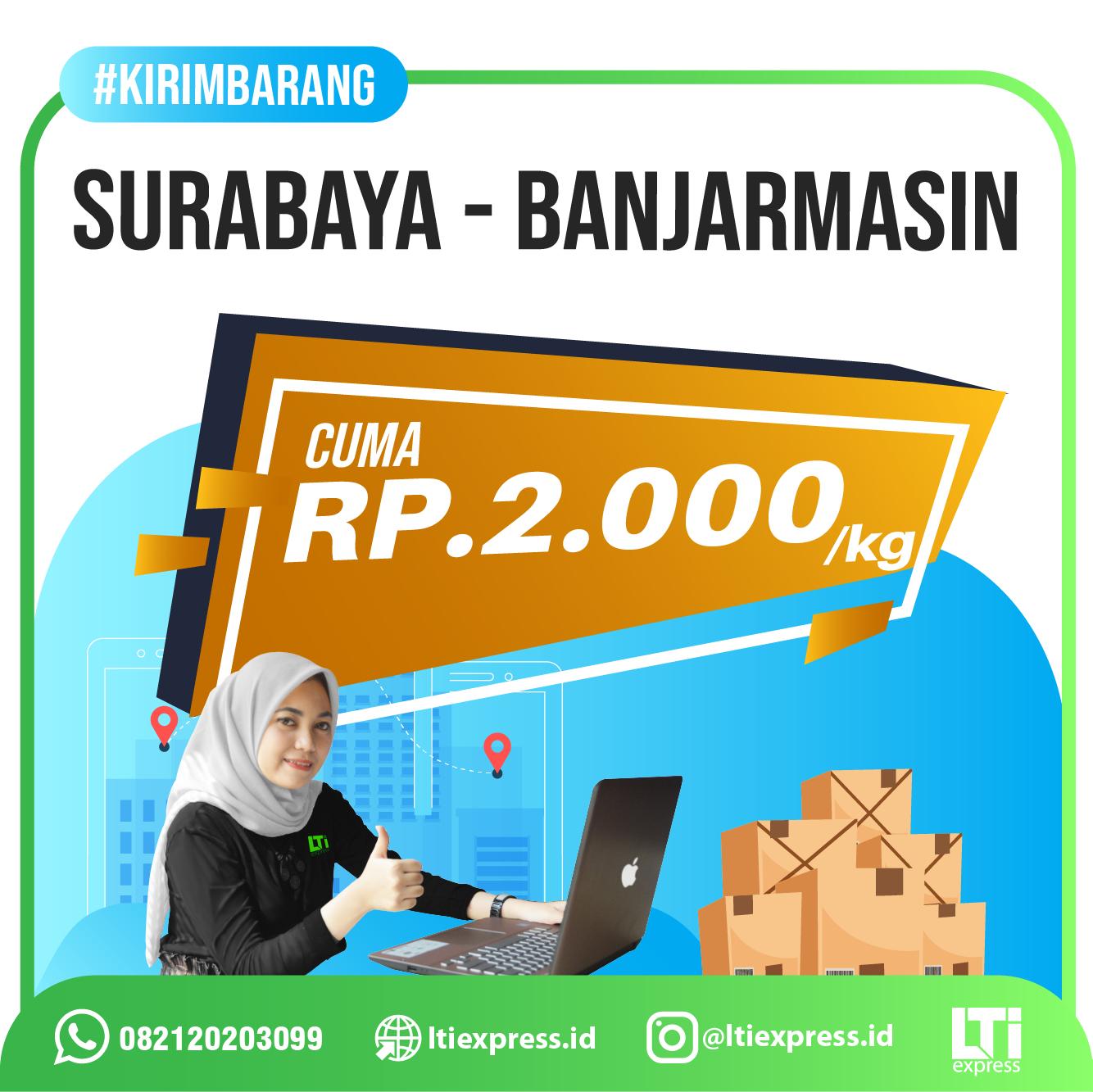 Ekspedisi Surabaya Banjarmasin murah