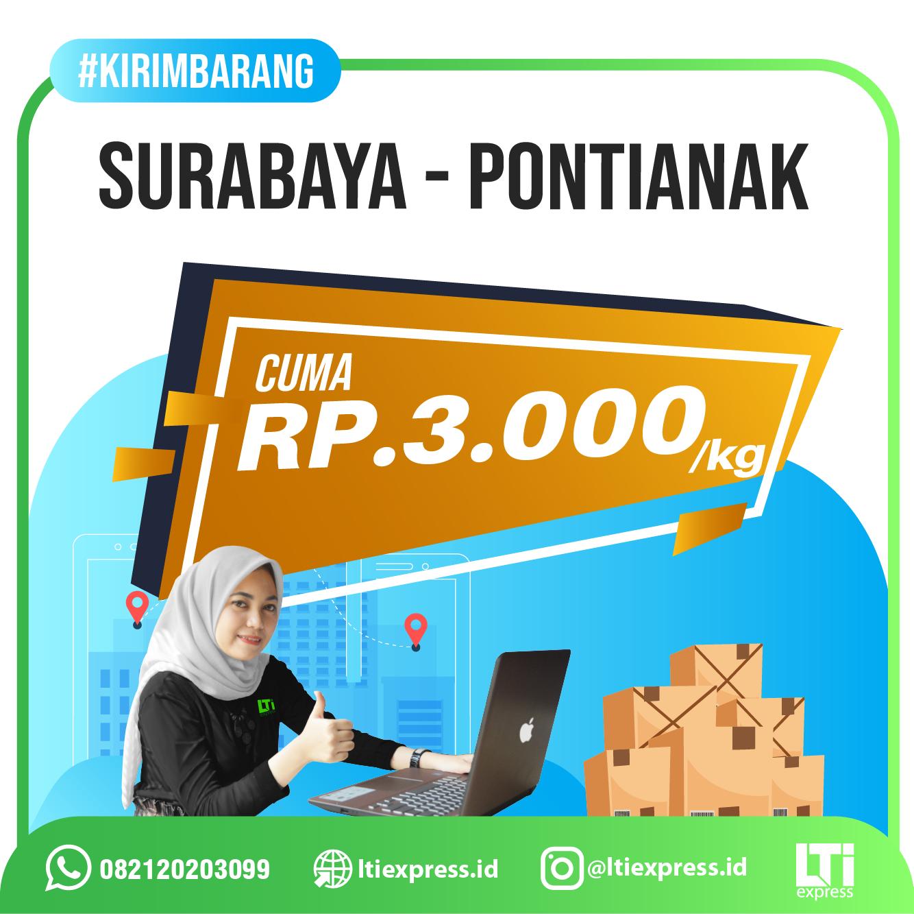 Ekspedisi Surabaya Pontianak murah